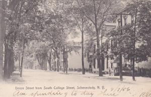 SCHENECTADY, New York, PU-1906; Union Street from South College Street