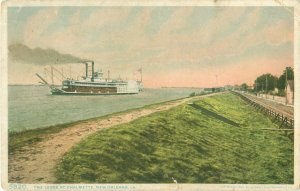 The Levee at Chalmette, New Orleans, Louisiana 1910 Postcard