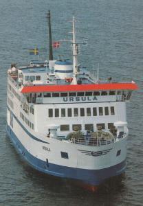MS Ursula Helsingborg Helsingor Official Scandanavian Ferry Lines Postcard