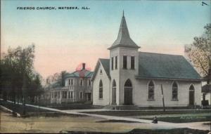 Watseka IL Friends Church c1910 Postcard