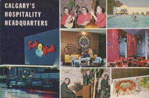 Calgary's Hospitality Headquarters Trade Winds Motor Hotel Postcard