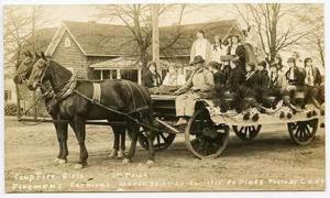 So Pines NC Firemen Wagon Signed Eddy RPPC Postcard