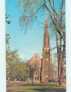 Pre-1980 CHURCH SCENE Waterbury Connecticut CT AD1701