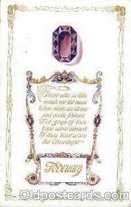 February Birth Stone Postcard Post Card  February