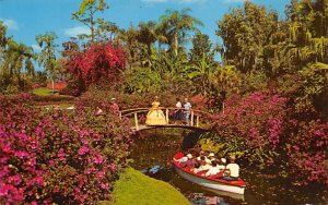 Boat Cruise Along the Flower Bordered Canals  Cypress Gardens FL