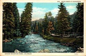 Colorado Denver Mountain Park Bear Creek At Evergreen 1934 Curteich