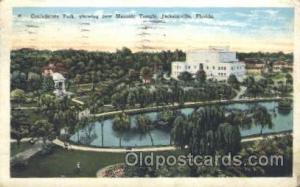 Jacksonville, Florida, USA Mason, Mason's Fraternal Organization, Postcard Po...