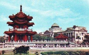 Vintage Postcard New Park Taipei Taiwan