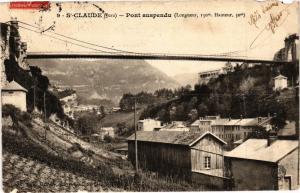 CPA SAINT-CLAUDE - Pont suspendu (211754)