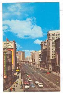 Main Street, looking North from Portage, City Hall, Winnipeg, Manitoba, Canad...