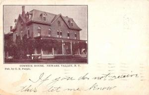 Newark Valley New York Dimmick House Street View Antique Postcard K89195