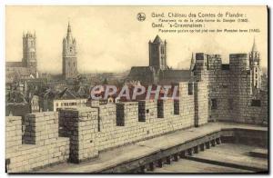 Old Postcard Ghent Gent gravensteen