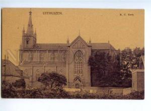 174035 NETHERLANDS UITHUIZEN R.C. Kerk Vintage postcard