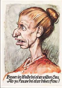 Germany - Drawing of Beautiful Woman/ 1957 Oktoberfest CDS