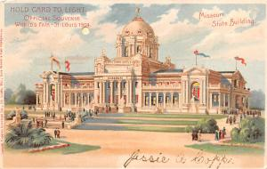 Worlds Fair, St Louis, MO USA 1904 Missouri State Building 1906 writing on front