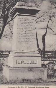 Connecticut Stonington Monument To Dr John W Richmond Albertype