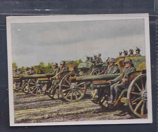 GERMANY TOBACCO CARD WWI 6x5 cms. CANNONS AAD5142