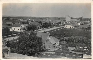G15/ Coleman Wisconsin RPPC Postcard 1914 Birdseye View Homes Store