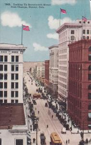 Looking Up Seventeenth Street, From Champa, Denver, Colorado, PU-1914