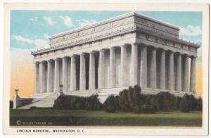 Lincoln Memorial, Washington D.C., unused Postcard