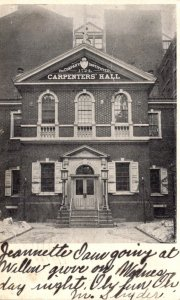 Pennsylvania Philadelphia Carpenters' Hall 1907
