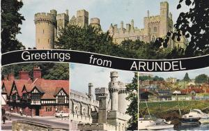 Post Card Sussex Arundel Greetings from 4 views