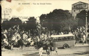Tanger Tangier Morocco Bus Vue du Grand Sokko c1910 Used Postcard & Cover