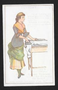 VICTORIAN TRADE CARDS (2) Grape Crystal Baking Powder