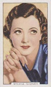 Gallaher Cigarette Cards Portraits Of Famous Stars No. 44 Sylvia Sidney