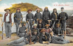 Foreign Military Post Card U.S. Apache Scouts Unused