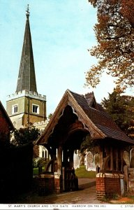 England Hastings On The Hill St Mary's Church and Lych Gate