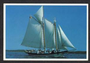 ME Schooner Ship LEWIS R FRENCH ROCKLAND MAINE POSTCARD