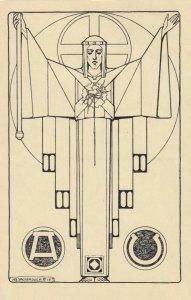 Jozef Speybrouck ; Belgium Art Deco Artist ; 1928 ; Virture , arms outspread