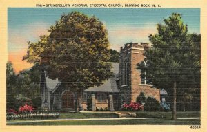 BLOWING ROCK, NC North Carolina  STRINGFELLOW EPISCOPAL CHURCH  c1940's Postcard