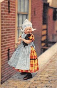 Netherlands Volendam Ethnic Little Girl Traditional Folk Costume 1913