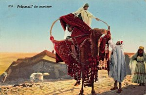 TUNISIA~PREPARATIF de MARIAGE~LEHERT & LANDROCK 1910s PHOTO POSTCARD