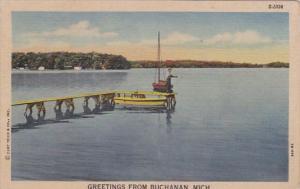 Michigan Greetings From Buchanan 1954 Curteich