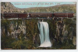 Spearfish Falls, B & M Train, Black Hills SD