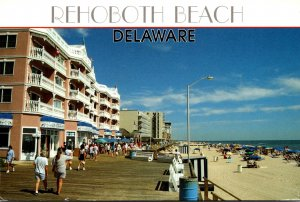 Delaware Rehoboth Beach Boardwalk Scene 1996