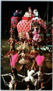 CIRCUS Postcard Ringling Bros. Barnum & Bailey Parade Float / Dancing Girls 1973