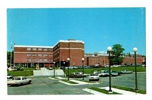 Boone County Hospital Harrison Arkansas Postcard Flag Antique Truck Light #82013