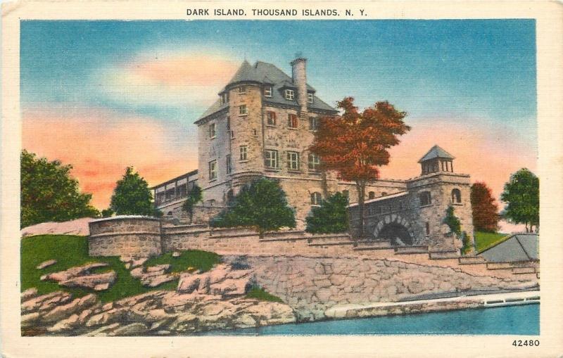 Thousand Islands NY~Dark Island~Singer Castle~Saint Lawrence Seaway~1953