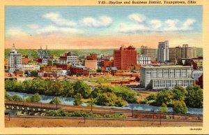Ohio Youngstown Skyline and Business District Curteich