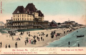 Maine Old Orchard Hotel Fiske and The Beach 1905