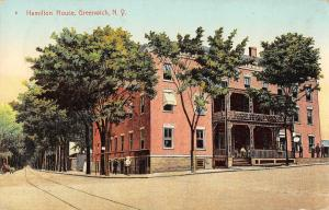 Hamilton House, Greenwich, New York Antique Postcard (T3451)
