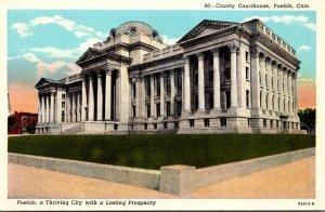 Colorado Pueblo County Court House Curteich