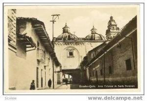 RP Ecuador-Quito. Arco Colonial de Santo Domingo,PU 1923