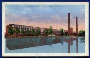 Gadsden Alabama al Dwight Cotton Mills old white bordererd postcard