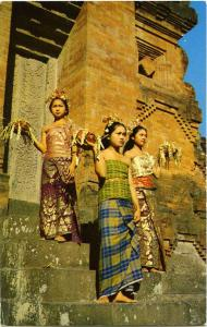 Balinese Girls in the Temple Festival Fashions - Bali, Indonesia