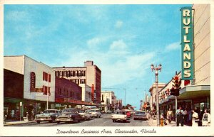 Florida Clearwater Cleveland Street Downtown Business Area 1965